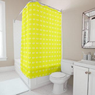 Bright Yellow n White Shower Curtain ©AH2015