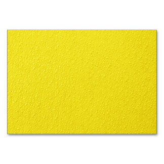 Bright Yellow Neon Trendy Colors Table Cards