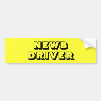 Bright Yellow New - NEWB - Driver Bumper Sticker