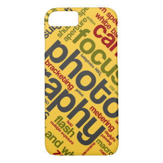 Bright Yellow Photographer Text iPhone 8/7 Case