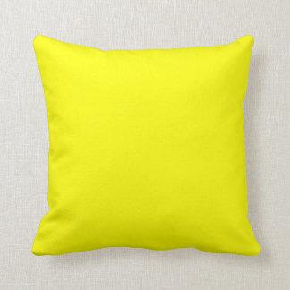 bright yellow  pillow