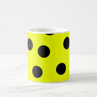 Bright Yellow Polka Dots Coffee Mug
