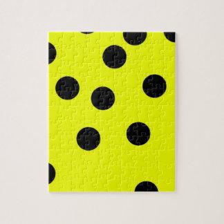 Bright Yellow Polka Dots Jigsaw Puzzle