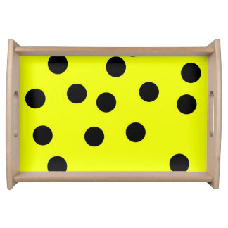 Bright Yellow Polka Dots Serving Tray