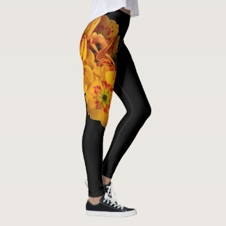 Bright Yellow Primrose Flower Leggings