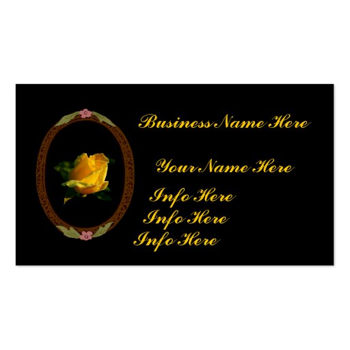 Bright Yellow Rose Business Card