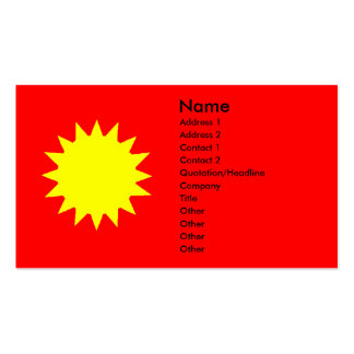 Bright Yellow Sun on Red Tanning Salon Business Card