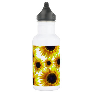 Bright Yellow Sunflower 532 Ml Water Bottle