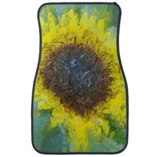 Bright Yellow Sunflower Auto Mat