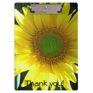 Bright Yellow Sunflower Clipboard