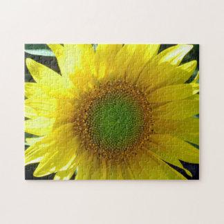 Bright Yellow Sunflower Jigsaw Puzzle