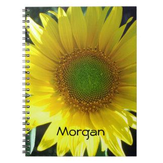 Bright Yellow Sunflower Notebook