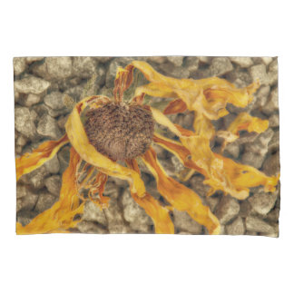 Bright Yellow Sunflower On Stones Pillowcase