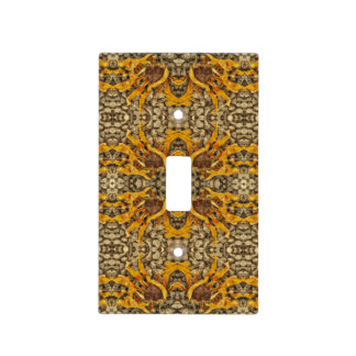 Bright Yellow Sunflower On Stones Repeat Pattern Light Switch Cover