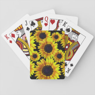 Bright Yellow Sunflower Playing Cards