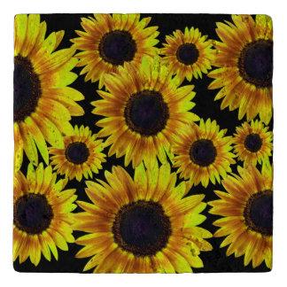 Bright Yellow Sunflower Trivet
