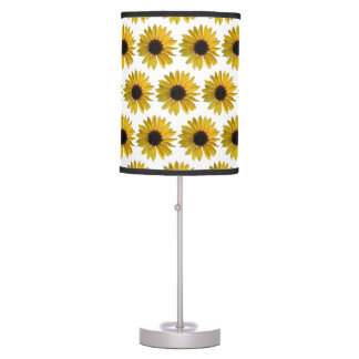 Bright Yellow Sunflowers Table Lamp