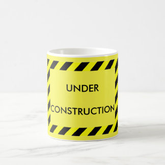 Bright Yellow Under Construction Coffee Mug