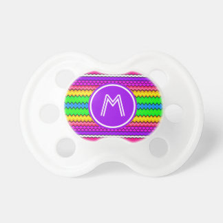 Bright Zigzag Monogrammed Pacifier