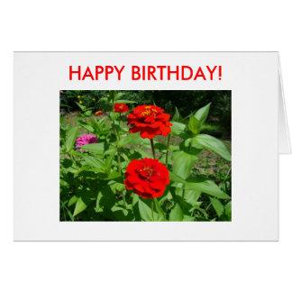 Bright Zinnias, HAPPY BIRTHDAY! Card
