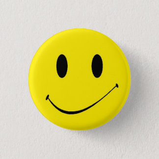 Brighten Your Day ~ Vintage Retro Smiley Face 1 Inch Round Button
