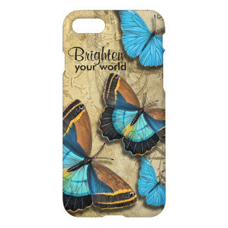 Brighten Your World Blue Butterfly Inspirational iPhone 8/7 Case