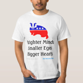 BRIGHTER MINDS - official Decency Party (TM) tee
