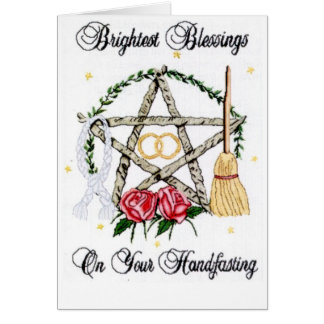Brightest Blessings For Your Hand Fasting Card