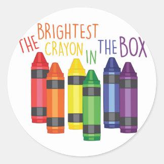 Brightest Crayon Classic Round Sticker