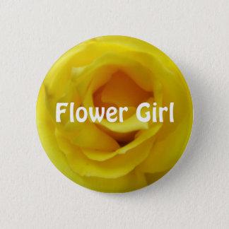 Brightest Yellow Rose Wedding 2 Inch Round Button