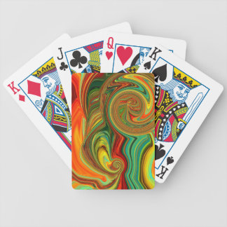 Brightly Bold Abstract Design in Swirls Bicycle Playing Cards