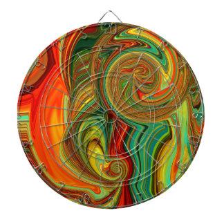 Brightly Bold Abstract Design in Swirls Dartboard