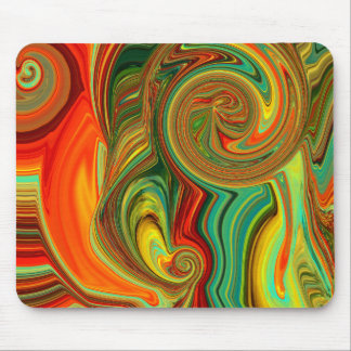 Brightly Bold Abstract Design in Swirls Mouse Pad