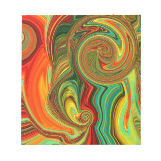 Brightly Bold Abstract Design in Swirls Notepad