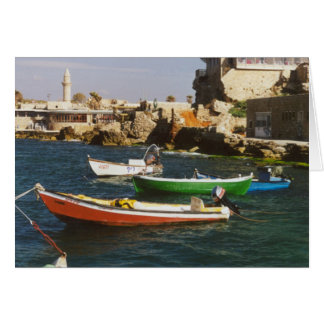 Brightly Colored Boats Card