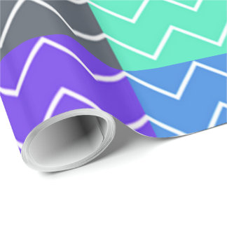 Brightly colored cool chevron pattern
