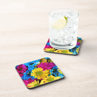 Brightly Colored Daisies Coasters