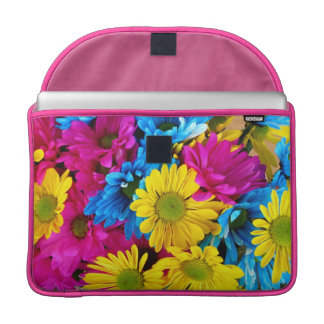 Brightly Colored Daisies Macbook Pro Sleeve