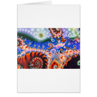 Brightly colored fractals card