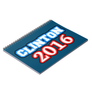 Brightly Colored Hillary Clinton 2016 Note Book