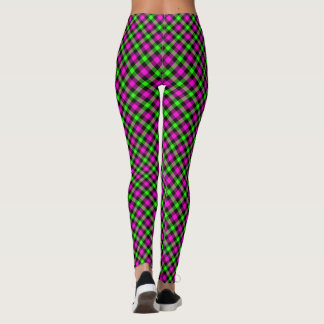 Brightly Colored Leggings Bright Green and Pink