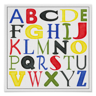 Brightly Colored Letters by Megan Meagher Poster