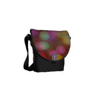 Brightly colored lights commuter bag