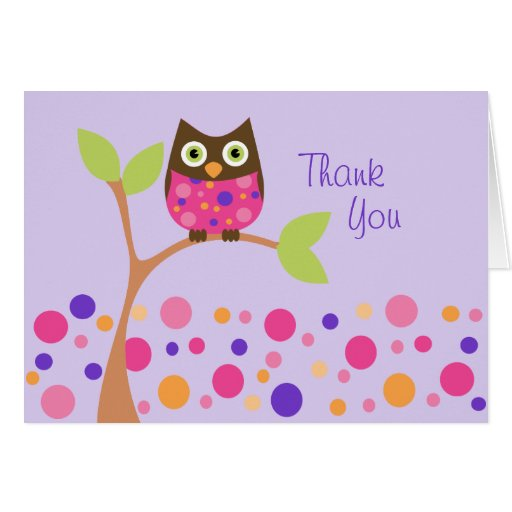 Brightly Colored Owl Card