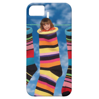 Brightly colored socks iPhone 5 cases