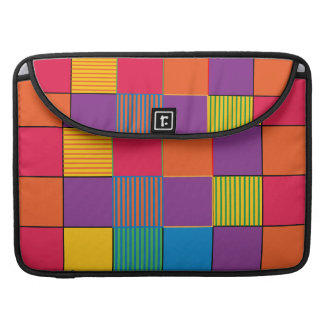 Brightly Colored Squares and Stripes Sleeve For MacBook Pro