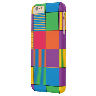 Brightly Colored Squares, Stripes iPhone 6/6s Plus Barely There iPhone 6 Plus Case