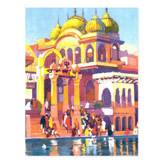 Brightly Colored Vintage India Postcard
