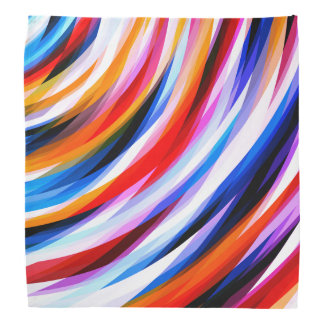 Brightly Colorful Abstract Pattern Bandana