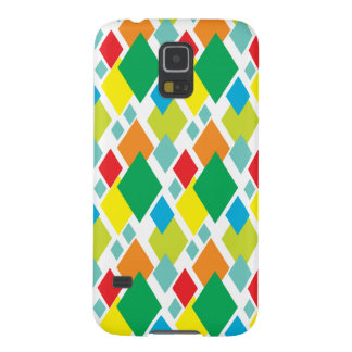 Brightly coloured modern Diamonds pattern Cases For Galaxy S5